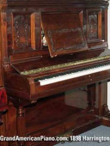 1898 Harrington Upright Piano