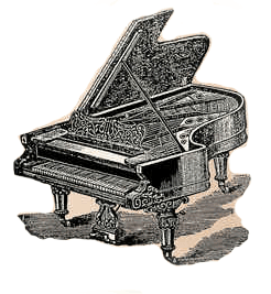 Antique Grand Piano