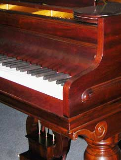 Restored grand piano detail